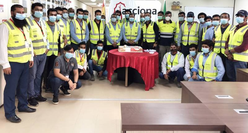 Construction of KSA SWPC's Shuqaiq 3 IWP desalination plant achieves two million man-hours without injuries