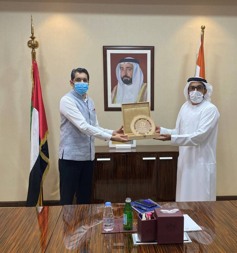 Sharjah and Delhi explore collaborationin key sectors of healthcare,food security and IT