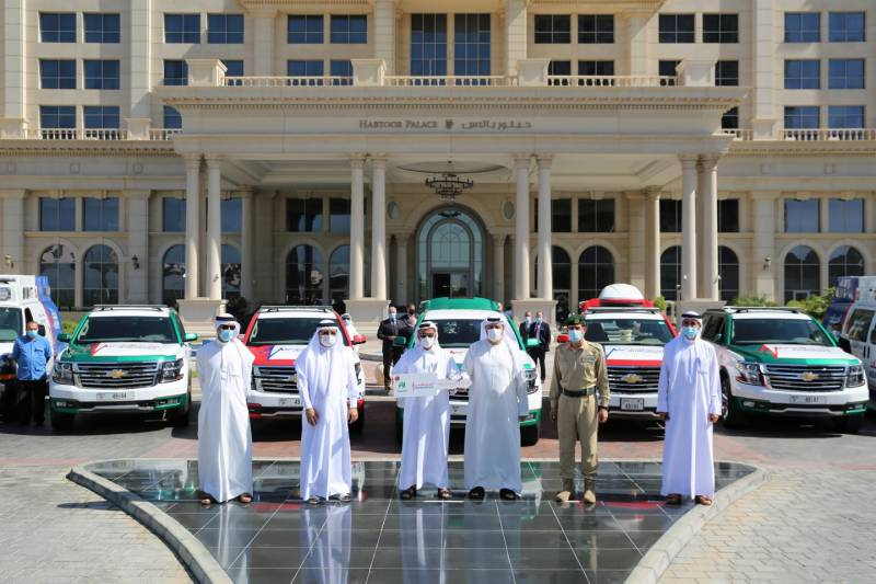 Dubai Corporation for Ambulance Services receives the first batch of ambulances provided by Khalaf Al Habtoor