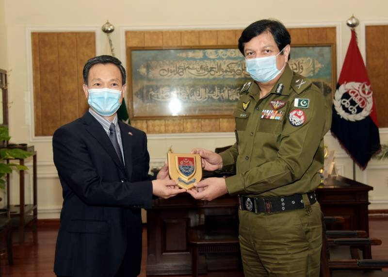 A delegation of Chinese Consul General called on IG Punjab at Central Police Office