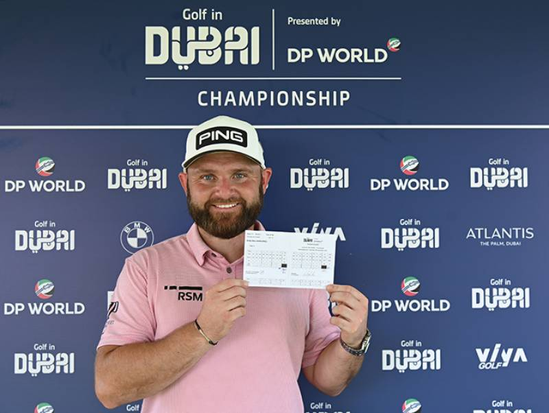 Andy Sullivan breaks course record with a 61 to lead the Golf in Dubai Championship presented by DP World
