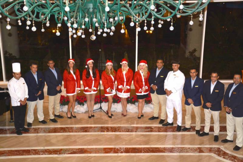 Christmas Tree Lighting Ceremony at Baron  Resort Sharm el Sheikh