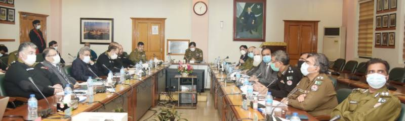 IG Punjab Inam Ghani chaired a high level meeting at the Central Police Office