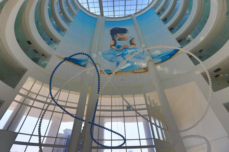 AZIZI DEVELOPMENTS COMMISSIONS 21-METRE PAINTING AT MINA BY AZIZI