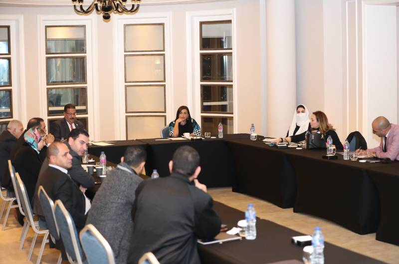 Bodour Al Qasimi meets members of the Arab and Egyptianpublishing associations as part of global meetings series