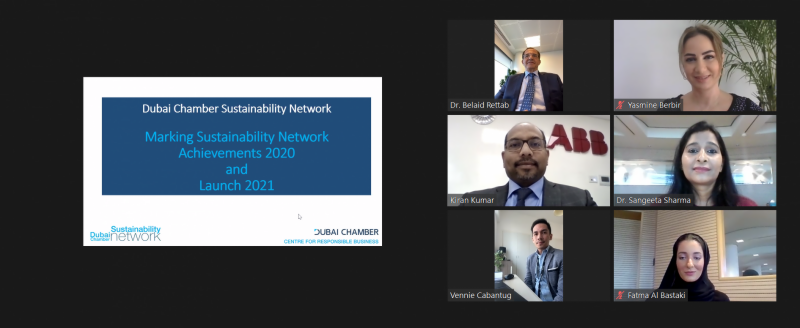 Dubai Chamber Sustainability Network members recognised for 2020 achievements