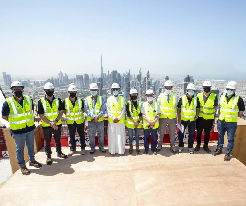 Ithra Dubai Announces Completion of Top Out of Tower A and B at One Za'abeel