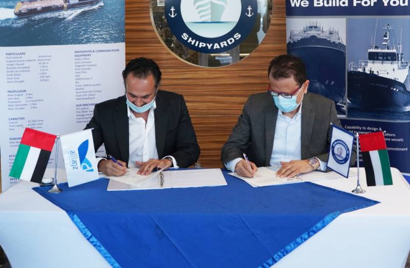 Grandweld Shipyards completes the delivery of the Surfer 2 crew boat for Allianz Middle East Ship Management LLC
