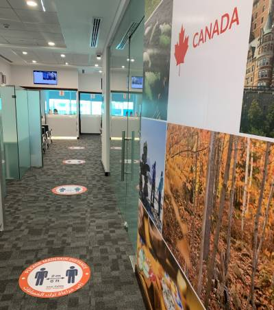 The Canada Visa Application Centre re-opens in Manama