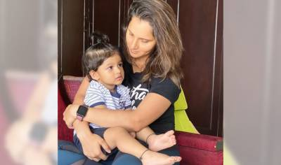 Sania Mirza released a new photo with her son