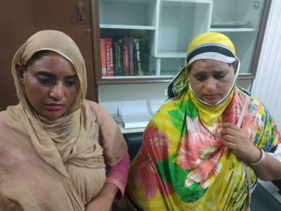 The officer of Motorway Police central zone arrested two females involved in fraud with people