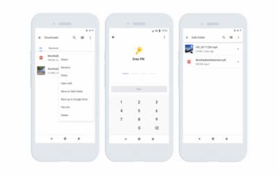 Files by Google launches privacy-driven 'safe folder'