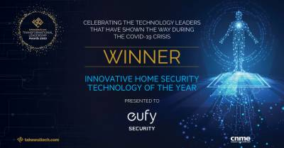 Eufy Security by ANKER gets Innovative Home Security Technology of the Year award