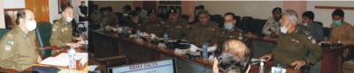 A high level meeting of Punjab Highway Patrol and Traffic Police was held at Central Police Office.