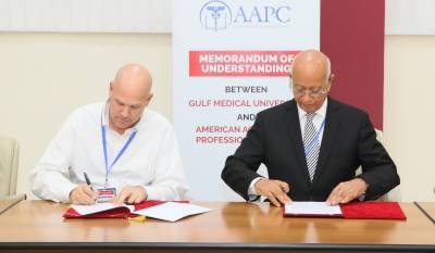 Gulf Medical University Partners with American Academy of Professional Coders to Establish the Region's First AAPC-GMU Collaborative Center for Training and Certification of Medical Coders