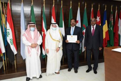 Secretary General Patronizes the Handing-Over Ceremony of ISF Financial Grant to Sudan