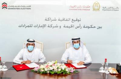RAK Finance Department, Emirates Auction strengthen cooperation in organizing online auctions