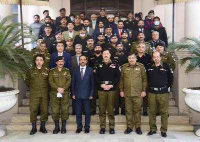 A ceremony in honor of the officers and personnel who arrested the accused in the Lahore-Sialkot Motorway rape case