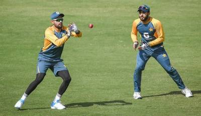 The Pakistan cricket team also trained hard on the second day