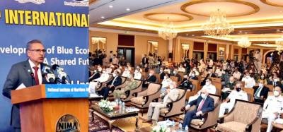 Pakistan will adopt responsible Blue Economy strategy for sustainable use of maritime resources for human welfare as well as defense of its maritime boundaries, says President