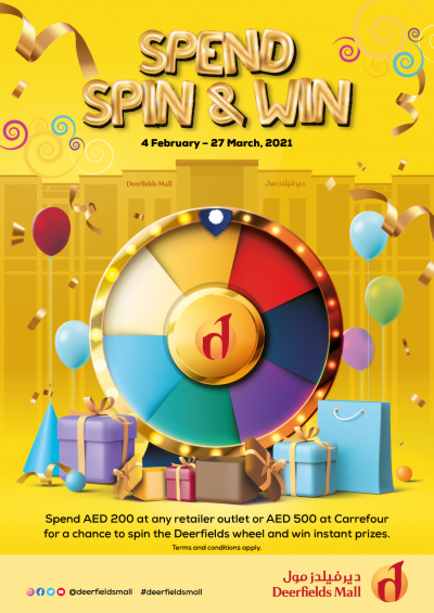 Spin the Deerfields Wheel and Be a Winner
