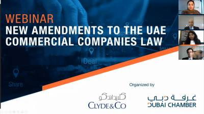 Dubai Chamber and Clyde & Co examine New Amendments to UAE Commercial Companies Law in latest webinar