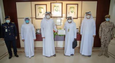 Sharjah's Ports and Border Points Committee discusses implementing smart land ports system at Khatmat Milaha