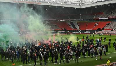 Manchester United supporters stormed the club's grounds